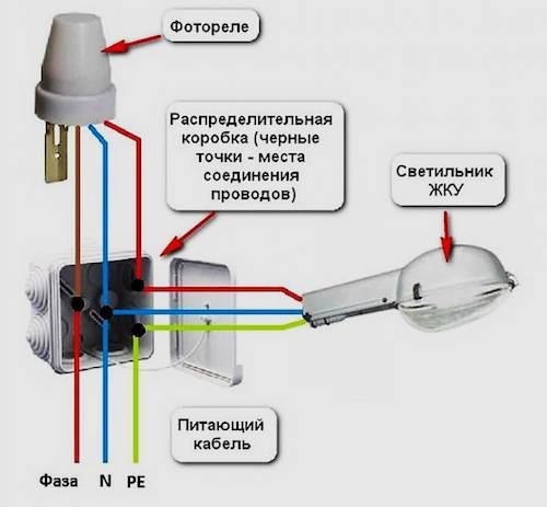 Как подключить датчик движения к прожектору: схемы подключения
