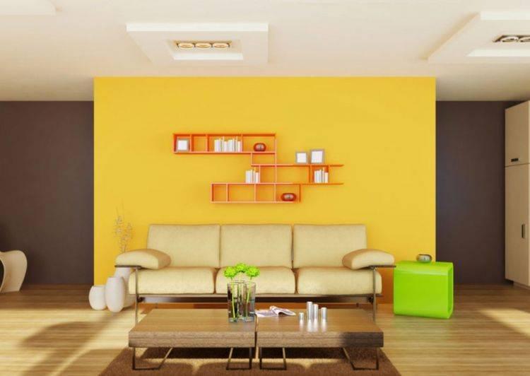 Желтые стены — особенности выбора оттенка и нюансы применения в дизайне интерьера