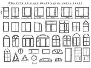 Стандартные размеры окон пвх (типовые ширина и высота окна)