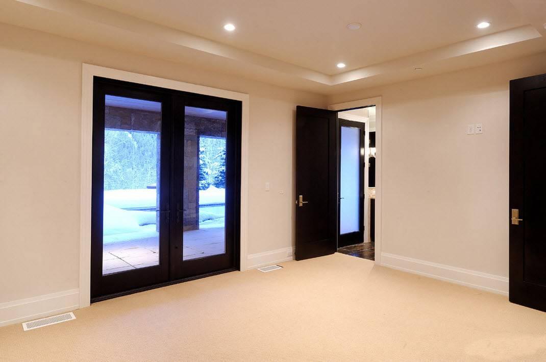 Темные двери в интерьере: 75 лучших идей в фото