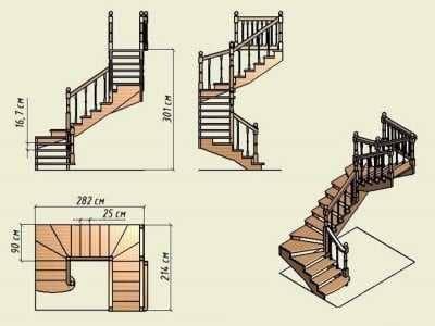 Как самому сделать лестницу с забежными ступенями