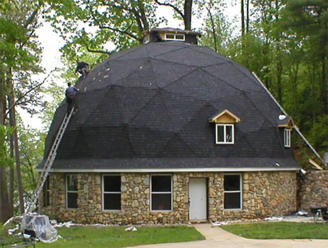 Купольная или коническая стропильная система крыши своими руками