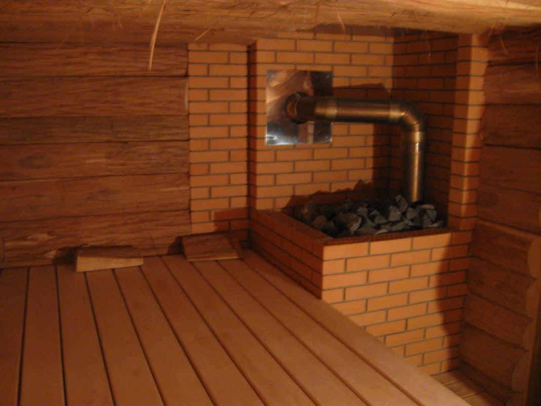 Как установить печь в бане на деревянный пол