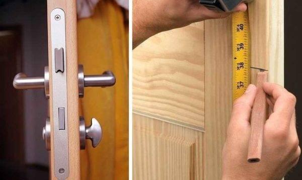Установка дверного замка в межкомнатную дверь: простая инструкция