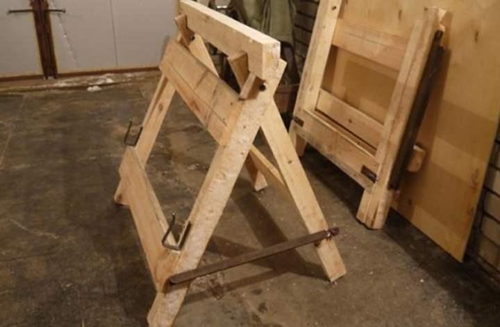 Как изготовить строительные козлы своими руками: Обзор вариантов и Фото