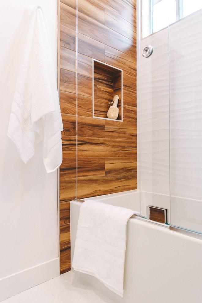 Керамогранит для пола и стен ванной комнаты, дизайн плитки под дерево или мрамор, укладка