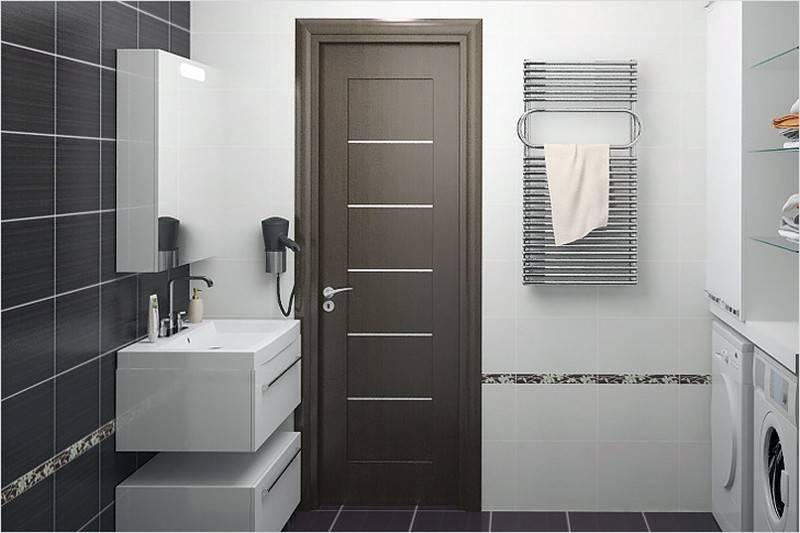 Двери для туалета и ванной (64 фото): пластиковые, стеклянные и влагостойкие модели в ванную комнату, установка конструкций в срезанный угол санузла по размерам