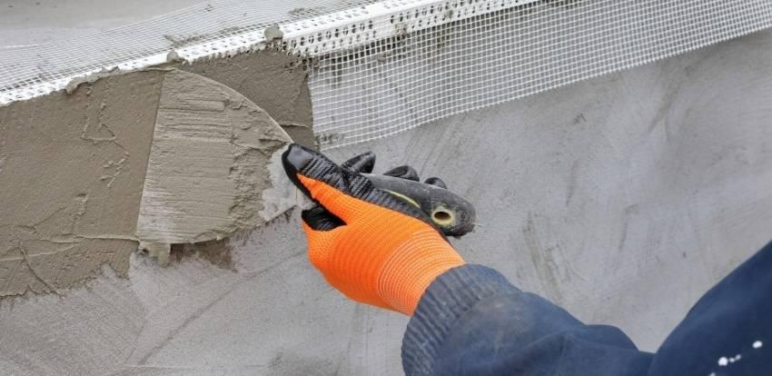 Фасадная шпаклевка для наружных работ: водостойкая, морозостойкая