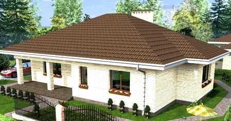 Красивые одноэтажные проекты домов с террасой (175 фото). особенности размещения на участке - ваша дача