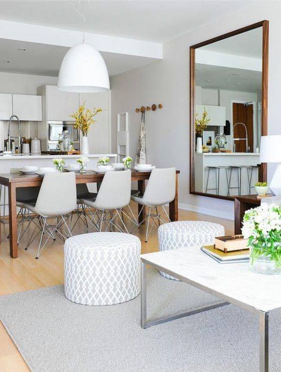 Зеркало на кухне: особенности выбора и расположения