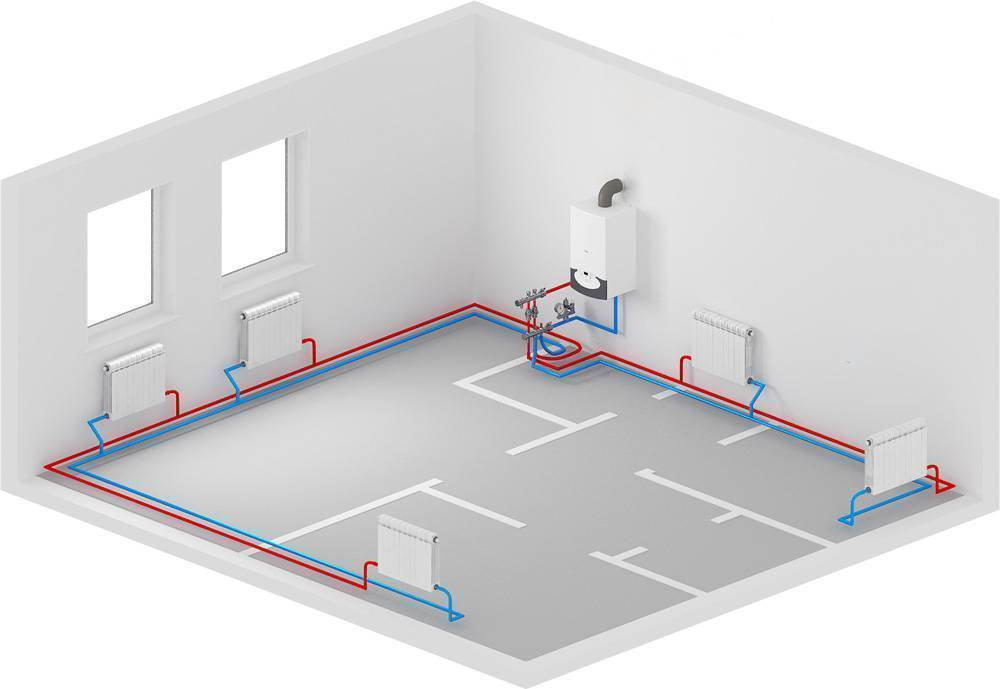 Расчет диаметра трубы для отопления частного дома или квартиры + онлайн калькулятор