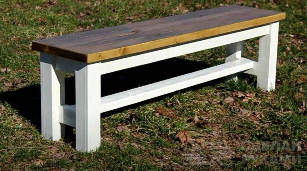 Как сделать скамейку своими руками - простые и стильные идеи для новичков (130 фото)