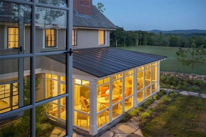 Веранда из поликарбоната к дому: крыша, остекление, как обшить, какой лучше