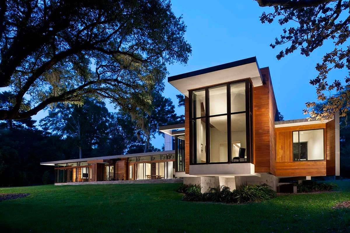Стеклянный дом и его интерьер: фото варианты