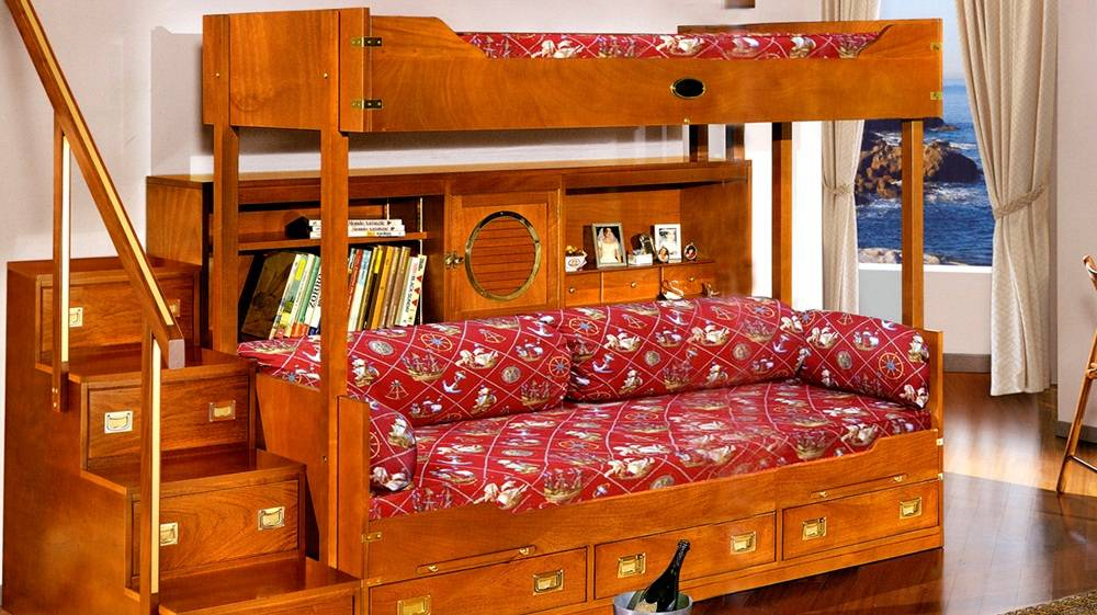 Кровать чердак со столом и шкафом, требования к безопасности моделей