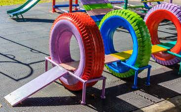 Детские игровые площадки на даче своими руками (100 фото)