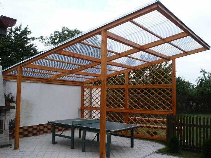Крыша для беседки из поликарбоната своими руками: варианты, способы, фото, видео
