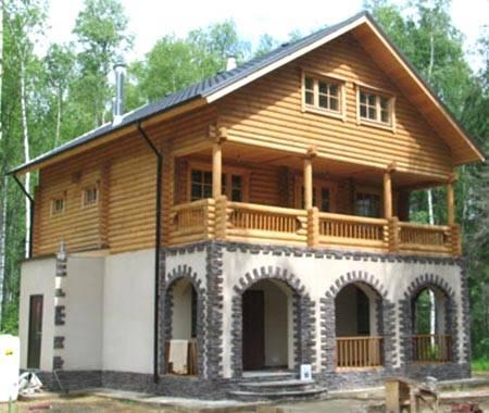 Комбинированные дома — дома из камня и дерева, берем лучшее от каждого материала для оптимального результата