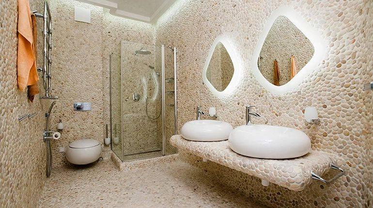 Декоративная штукатурка в ванной: влагостойкая отделка своими руками в ванной и туалете
