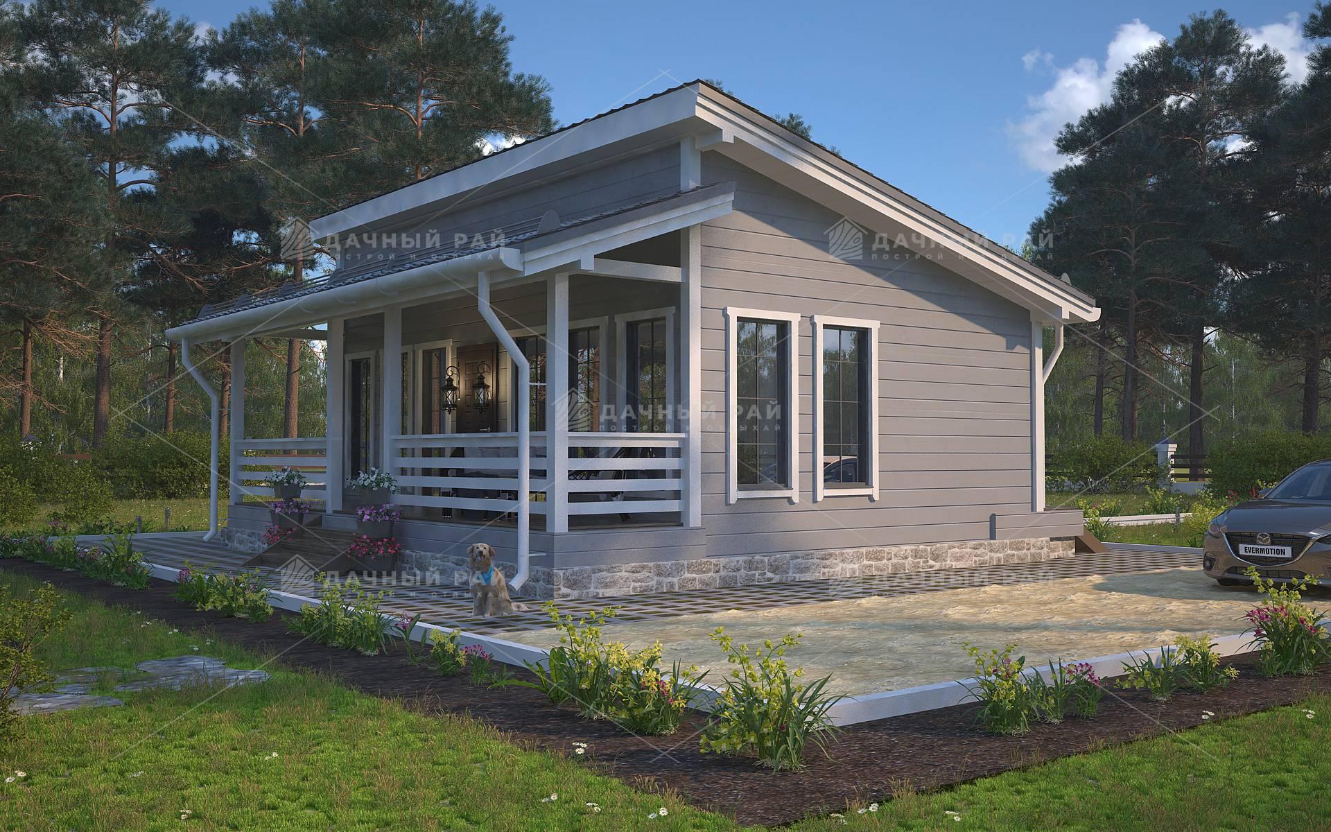 Проекты каркасных одноэтажных домов размером 6х8