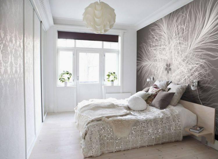 Оформление стен в спальне: выбор цвета, стиля - 75 фото