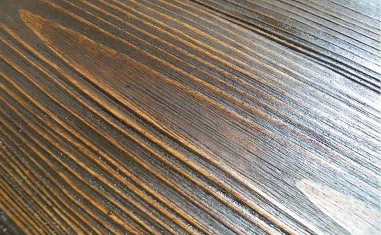 Покраска брашированных деревянных поверхностей