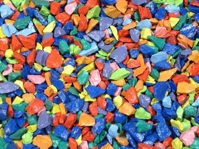 Производство цветного щебня (крошки): оборудование, технология покраски