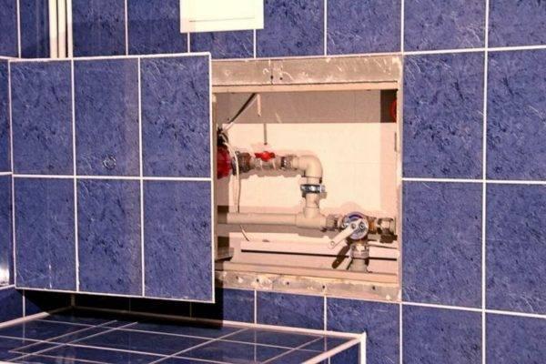 Люки для ванной комнаты под плитку – размеры, разновидности и применение