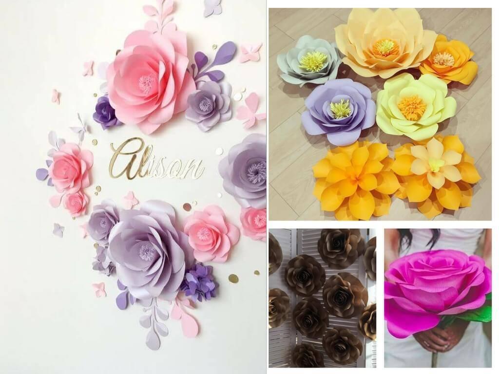 Большие цветы своими руками: 70 фото схем и шаблонов изготовления цветов