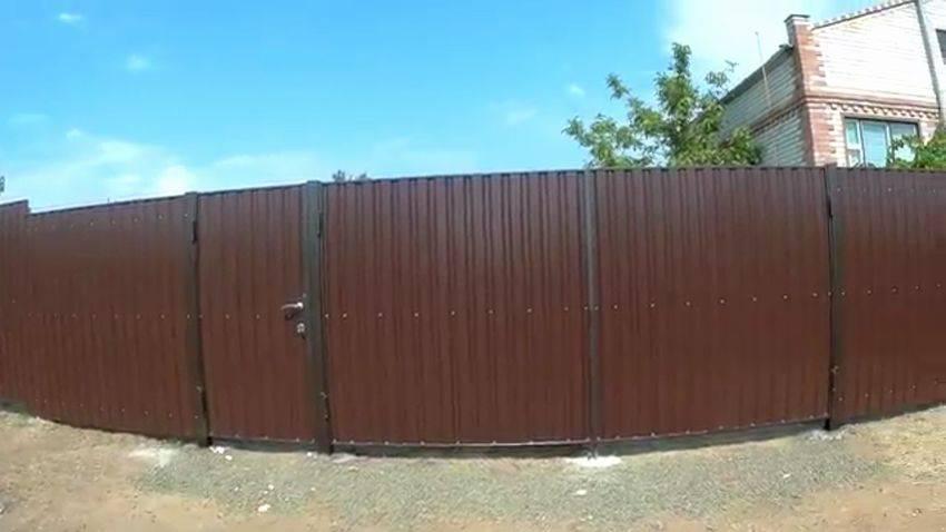 Ворота из профнастила - 75 фото пошагового описания как изготовить надежные ворота
