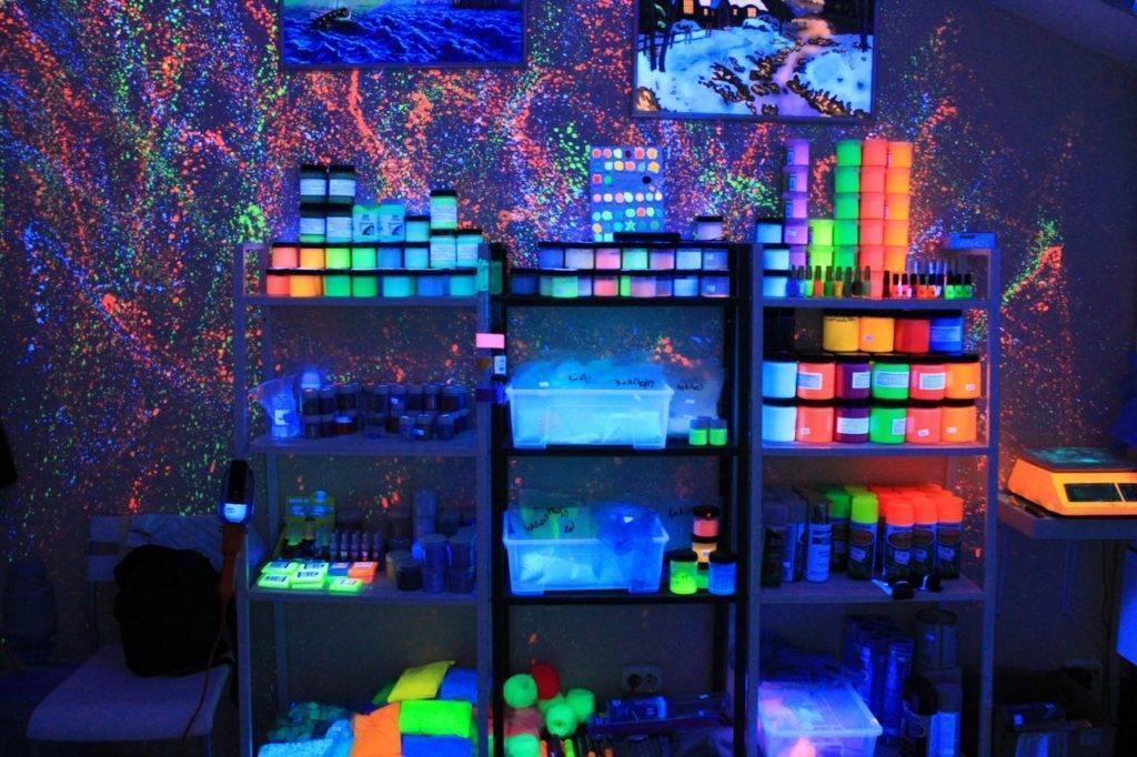 Как сделать светящуюся краску в домашних условиях своими руками