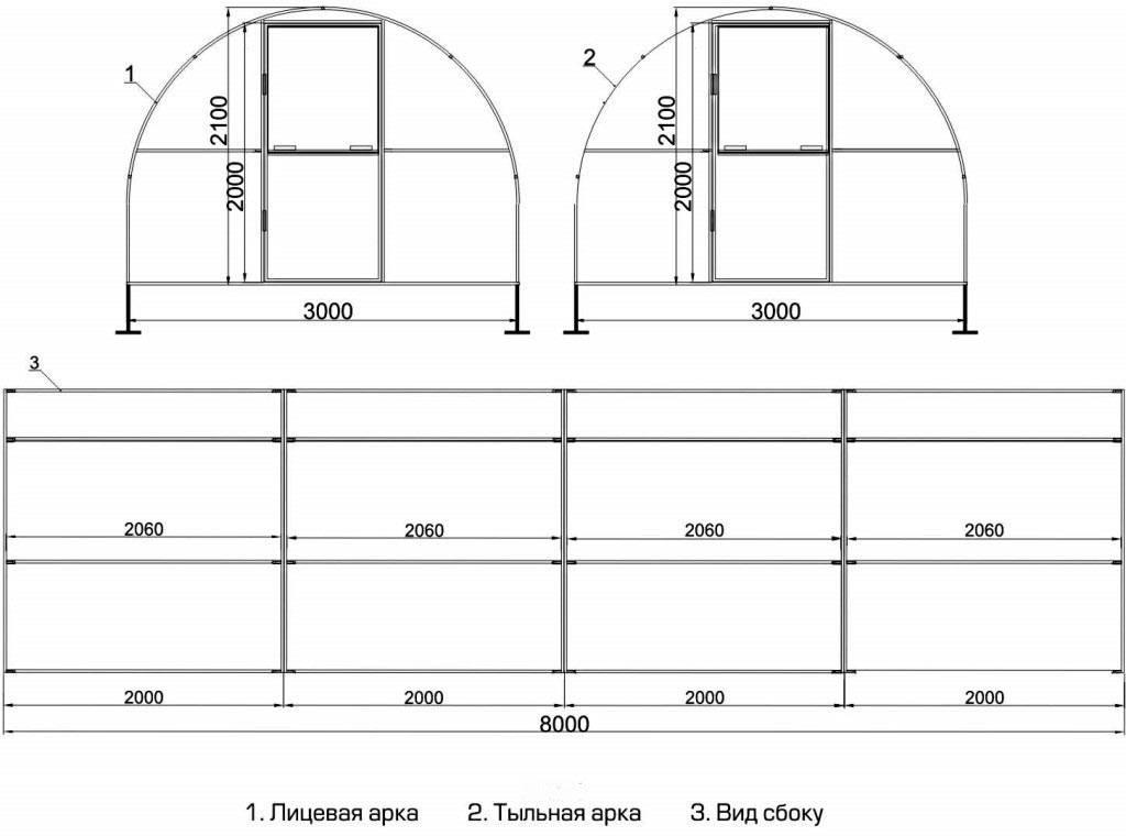 Этапы изготовления теплицы из профильной трубы