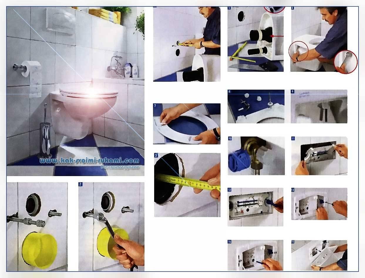 Установка унитаза и инсталляции своими руками: схема, инструкция по монтажу, видео