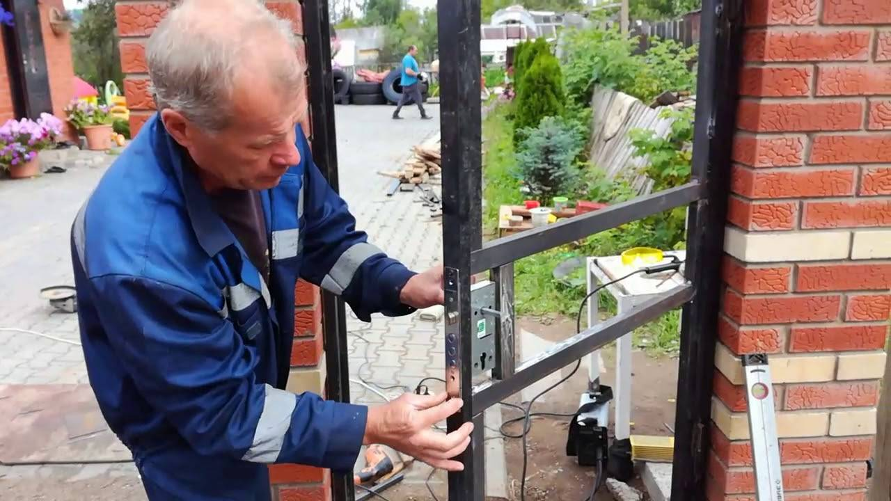 Ворота из профнастила своими руками: фото и видео