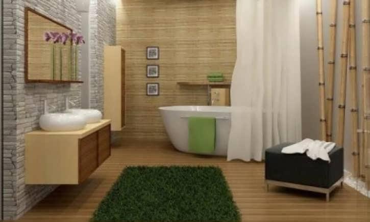 Обои для ванной комнаты (45 фото): фотообои, жидкие, виниловые влагостойкие виды