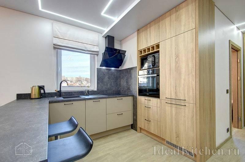 Кухни без навесных шкафов - особенности интерьера