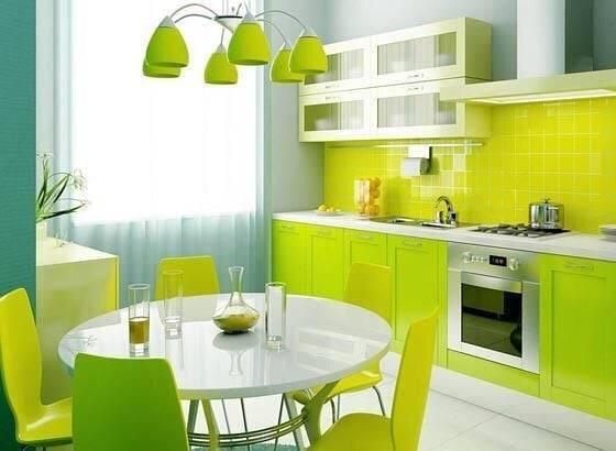 Яркие кухни - 150 самых красочных интерьеров