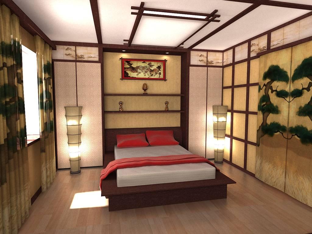 Восточные мотивы: спальня в японском стиле – 6 частей дизайна