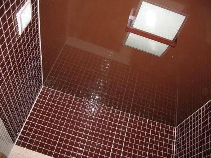 Натяжной потолок в туалет: цветной, дизайн с подсветкой, установка, фото, отзывы