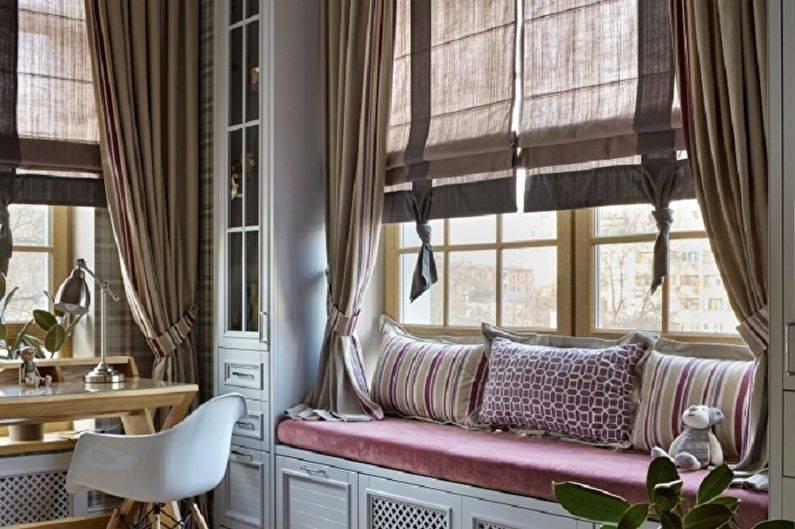 Римские шторы в спальню (44 фото): дизайн интерьера с римскими шторами и тюлем на балконной двери, другие идеи