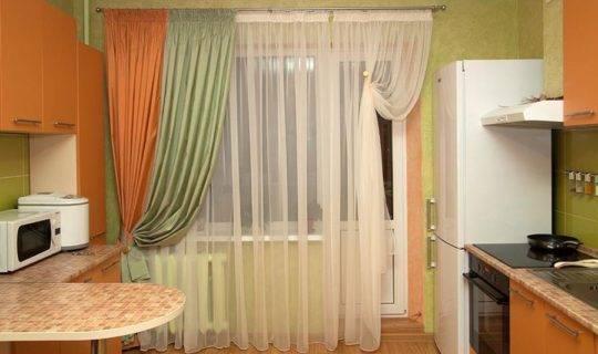 Шторы на кухню: фото в интерьере, правила выбора