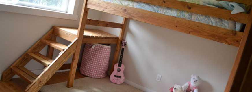 Двухъярусная кровать своими руками (25 фото и чертежи с размерами) - инструкция