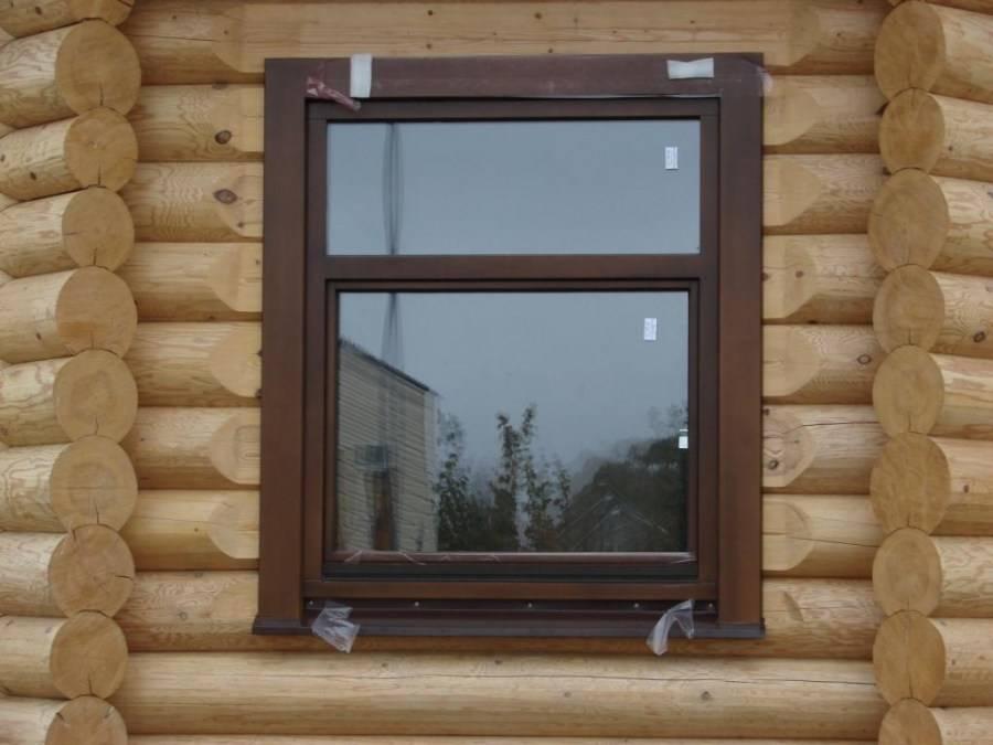 Пластиковые окна в деревянном доме — инструкция как установить надежно и быстро (90 фото)