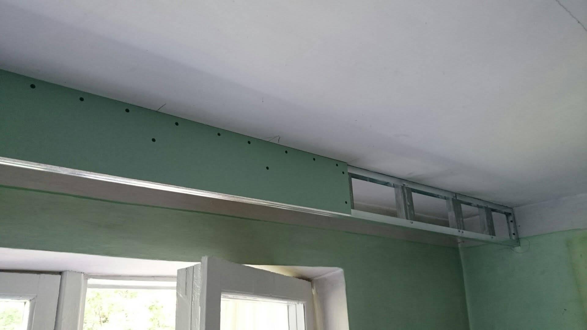 Как делать натяжной потолок с конструкцией из гипсокартона