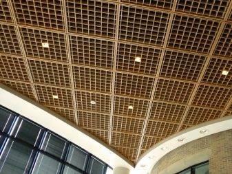 Виды подвесного потолка типа грильято – характеристики и свойства
