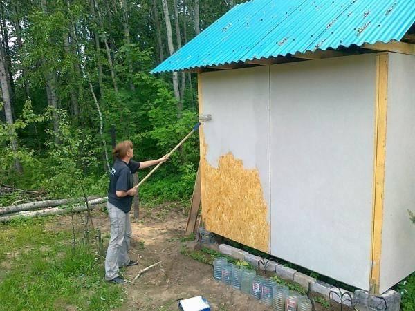 Покраска осб: чем покрасить осб снаружи дома