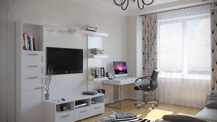 Стенка с компьютерным столом в интерьере — особенности и правила выбора - знать про все