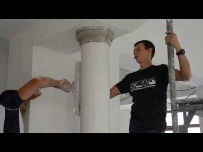 Как самостоятельно сделать колонну из гипсокартона