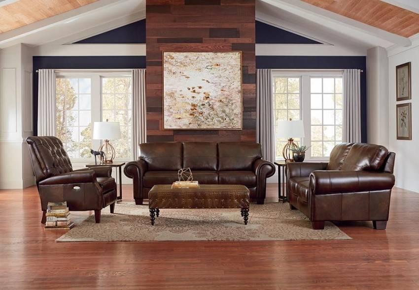 Кожаный диван – лучшие современные модели и варианты их использования