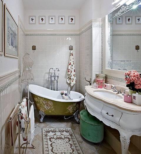 Интерьер и дизайн ванной комнаты в стиле кантри | 20 практичных идей